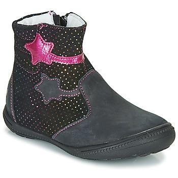Παπούτσια Κορίτσι Μπότες GBB NADIA Black / Ροζ