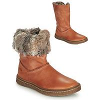 Παπούτσια Κορίτσι Μπότες για την πόλη Achile DUBROVNIK Cognac