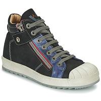 Παπούτσια Αγόρι Ψηλά Sneakers Achile DIEGO Black / Μπλέ