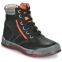 Παπούτσια Αγόρι Μπότες Achile MANUEL Black / Orange