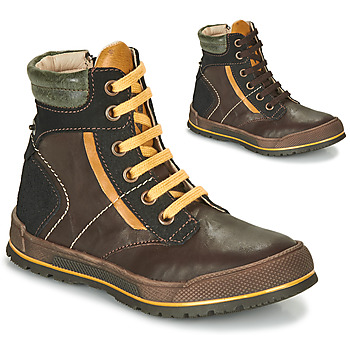 Παπούτσια Αγόρι Μπότες Achile MANUEL Brown / Yellow