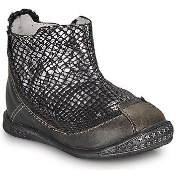Παπούτσια Κορίτσι Μπότες Ikks SCARLET Black / Silver