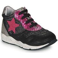 Παπούτσια Κορίτσι Χαμηλά Sneakers Ikks KAREN Black / Ροζ