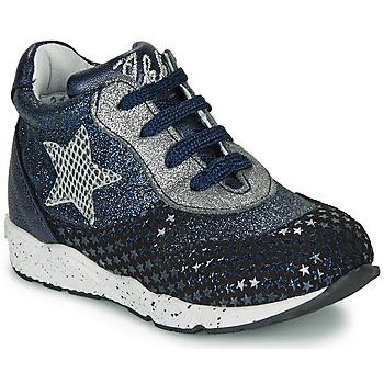 Παπούτσια Κορίτσι Χαμηλά Sneakers Ikks KAREN Μπλέ / Silver