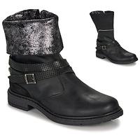 Παπούτσια Κορίτσι Μπότες για την πόλη Ikks FLORA Black / Silver