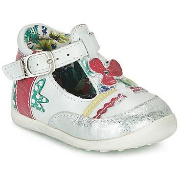 Παπούτσια Κορίτσι Σανδάλια / Πέδιλα Catimini PALOMINO Άσπρο / Ροζ