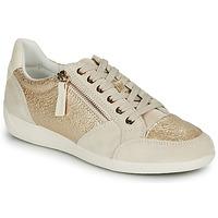 Παπούτσια Γυναίκα Χαμηλά Sneakers Geox MYRIA Gold / Κρεμ