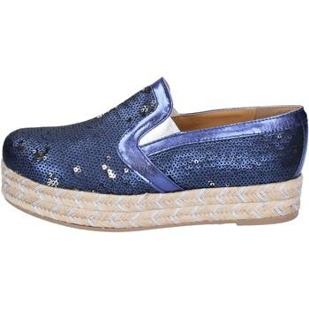 Παπούτσια Γυναίκα Εσπαντρίγια Olga Rubini slip on blu tessuto paillettes BS110 blu