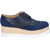Παπούτσια Γυναίκα Derby & Richelieu Olga Rubini classiche blu pelle sintetica camoscio strass BS96 blu