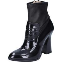 Παπούτσια Γυναίκα Μποτίνια Roberto Botticelli Μπότες αστραγάλου BS280 Μαύρος