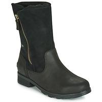 Παπούτσια Γυναίκα Μπότες Sorel EMELIE FOLDOVER Black