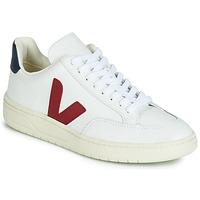 Παπούτσια Χαμηλά Sneakers Veja V-12 LEATHER Άσπρο / Μπλέ / Red