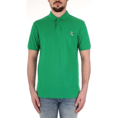 Υφασμάτινα Άνδρας Πόλο με κοντά μανίκια  Calvin Klein Jeans J30J312323 Verde