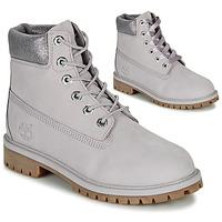Παπούτσια Παιδί Μπότες Timberland 6 IN PREMIUM WP BOOT Grey
