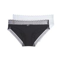 Εσώρουχα Γυναίκα Culottes DIM SEXY FASHION X2 Black / Άσπρο