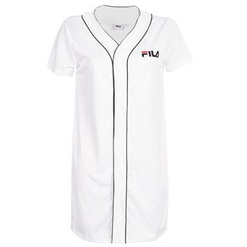 Υφασμάτινα Γυναίκα Κοντά Φορέματα Fila WOMEN ROBIN button baseball dr Άσπρο