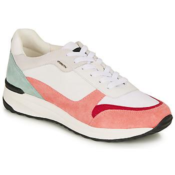 Παπούτσια Γυναίκα Χαμηλά Sneakers Geox AIRELL Άσπρο
