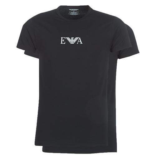 Υφασμάτινα Άνδρας T-shirt με κοντά μανίκια Emporio Armani CC715-PACK DE 2 Black