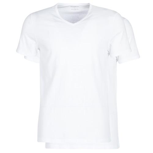 Υφασμάτινα Άνδρας T-shirt με κοντά μανίκια Emporio Armani CC722-PACK DE 2 Άσπρο