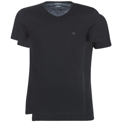 Υφασμάτινα Άνδρας T-shirt με κοντά μανίκια Emporio Armani CC722-PACK DE 2 Black