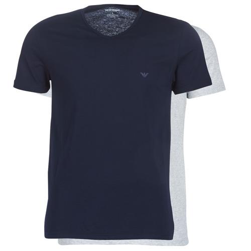 Υφασμάτινα Άνδρας T-shirt με κοντά μανίκια Emporio Armani CC722-111648-15935 Marine / Grey