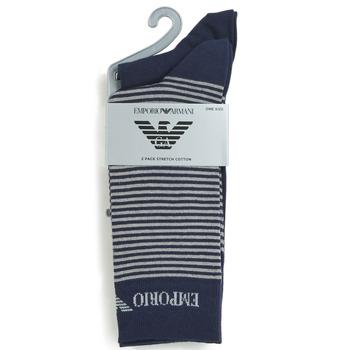 Αξεσουάρ Άνδρας Κάλτσες Emporio Armani CC114-302302-00035 Marine