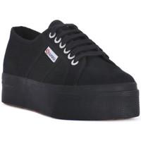 Παπούτσια Γυναίκα Χαμηλά Sneakers Superga COTU FULL BLACK UP AND DOWN Nero
