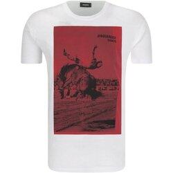 Υφασμάτινα Άνδρας T-shirt με κοντά μανίκια Dsquared S71GD0712 Άσπρο