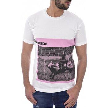 Υφασμάτινα Άνδρας T-shirt με κοντά μανίκια Dsquared S71GD0713 Άσπρο