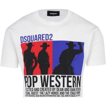 Υφασμάτινα Άνδρας T-shirt με κοντά μανίκια Dsquared S71GD0720 Άσπρο