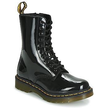 Παπούτσια Γυναίκα Μπότες Dr Martens 1490 PATENT LAMPER Black