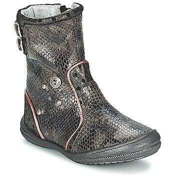 Παπούτσια Κορίτσι Μπότες για την πόλη Catimini CLABAUD Bronze / Black