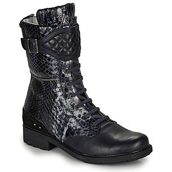 Παπούτσια Κορίτσι Μπότες για την πόλη Ikks KIMBERLEY Black