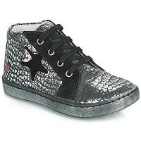 Παπούτσια Κορίτσι Ψηλά Sneakers GBB LETO Black / Silver