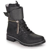 Παπούτσια Κορίτσι Μπότες για την πόλη Ikks PEGGY Black