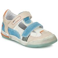 Παπούτσια Αγόρι Χαμηλά Sneakers GBB PRINCE Άσπρο / Beige / Μπλέ