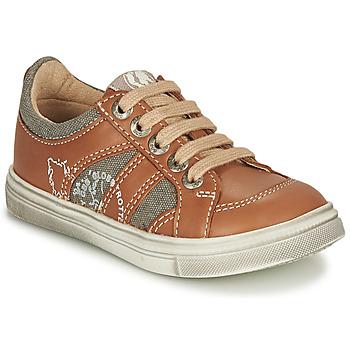 Παπούτσια Αγόρι Χαμηλά Sneakers GBB PALMYRE Cognac