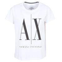 Υφασμάτινα Γυναίκα T-shirt με κοντά μανίκια Armani Exchange 8NYTCX-YJG3Z-5102 Άσπρο