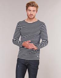 Υφασμάτινα Άνδρας Μπλουζάκια με μακριά μανίκια Armor Lux VERMO Marine / Άσπρο
