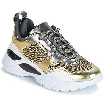 Παπούτσια Γυναίκα Χαμηλά Sneakers Guess FURNER Argenté / Dore