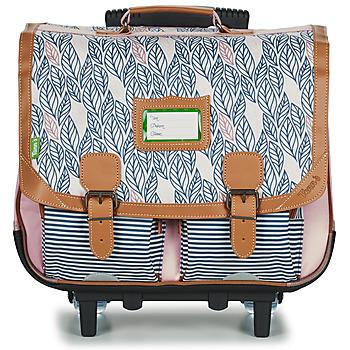 Τσάντες Κορίτσι Σχολικές τσάντες με ροδάκια Tann's CREATION FLORE TROLLEY CARTABLE 41 CM Ροζ