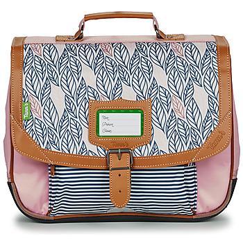 Τσάντες Κορίτσι Σάκα Tann's CREATION FLORE CARTABLE 35 CM Ροζ