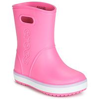 Παπούτσια Κορίτσι Μπότες βροχής Crocs CROCBAND RAIN BOOT K Ροζ