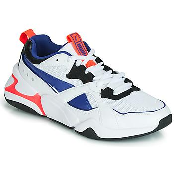 Παπούτσια Γυναίκα Χαμηλά Sneakers Puma NOVA 2 Άσπρο / Μπλέ