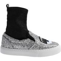 Παπούτσια Γυναίκα Ψηλά Sneakers Chiara Ferragni CF 2094 SILVER-BLACK argento
