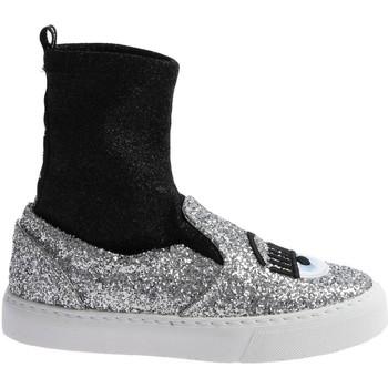 Ψηλά Sneakers Chiara Ferragni CF 2094 SILVER-BLACK