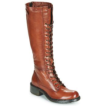 Παπούτσια Γυναίκα Μπότες για την πόλη Dream in Green WADDAH Cognac