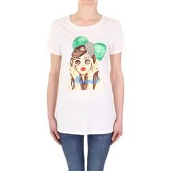 Υφασμάτινα Γυναίκα T-shirt με κοντά μανίκια Vicolo RU0081 Panna