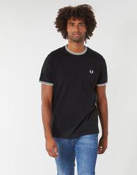 Υφασμάτινα Άνδρας T-shirt με κοντά μανίκια Fred Perry TWIN TIPPED T-SHIRT Black