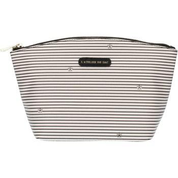Τσάντες Γυναίκα Κασετίνες Pash Bag 8385Gisele Ice with black stripes